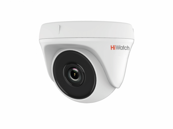 Купольная HD-TVI видеокамера HiWatch DS-T133 с EXIR-подсветкой