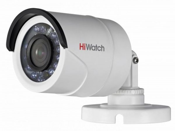 Цилиндрическая HD-TVI видеокамера HiWatch DS-T200 с ИК подсветкой