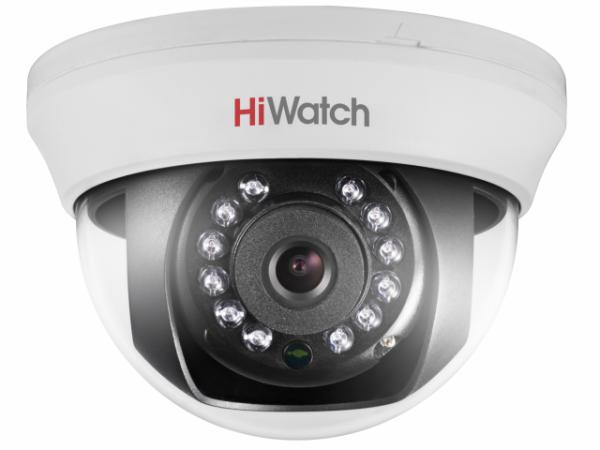 Купольная уличная HD-TVI видеокамера HiWatch DS-T201 с ИК-подсветкой