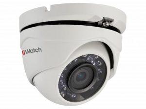 Купольная уличная HD-TVI видеокамера HiWatch DS-T203 с ИК-подсветкой