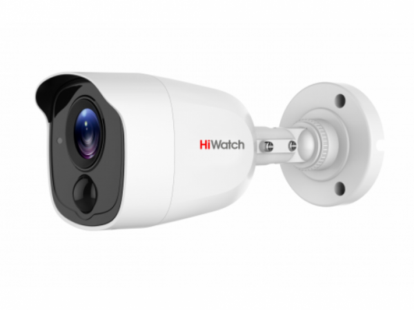 Цилиндрическая HD-TVI видеокамера HiWatch DS-T210 с EXIR подсветкой